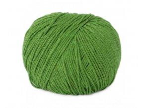 Příze Jeans  8156 zelená  Pletací a háčkovací příze 50% bavlna + 50% akryl