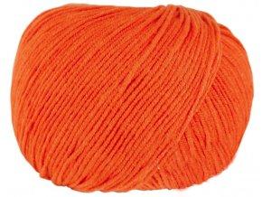 Příze Jeans 8194 oranžová  pletací a háčkovací příze, bavlna / akryl