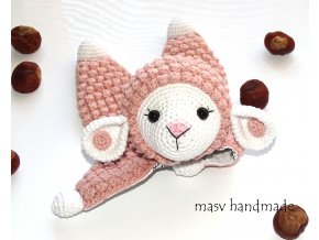 Háčkovaná ovečka usínáček  háčkované dekorace handmade