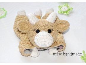 Háčkovaná kravička usínáček  háčkované dekorace handmade