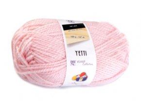 Příze Yetti 52070 světle růžová  pletací a háčkovací příze, 100% akryl