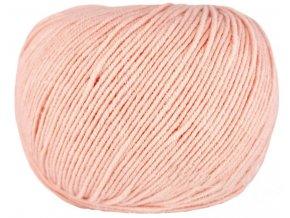 Příze Jeans 8011 pastelově oranžová  PLETACÍ A HÁČKOVACÍ PŘÍZE