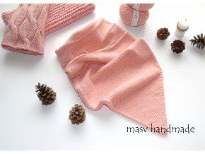 Pletený nákrčník s cípem 100% merino  masv handmade