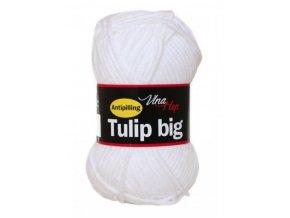 Příze Tulip Big 4002 bílá  pletací a háčkovací příze, 100% akryl