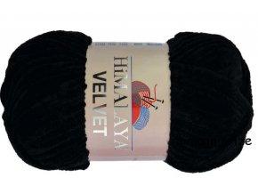 příze Velvet 90011 černá  PLETACÍ A HÁČKOVACÍ PŘÍZE