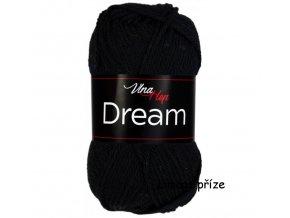 příze Dream 6401 černá  100% merino vlna PLETACÍ A HÁČKOVACÍ PŘÍZE