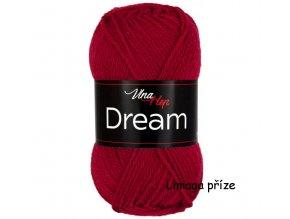 příze Dream 6411 červená  100% MERINO VLNA PLETACÍ A HÁČKOVACÍ PŘÍZE