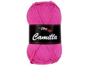 Příze Camilla 8037 tmavě růžová  pletací a háčkovací příze, 100% bavlna