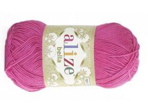 Příze Bella 489 růžová  pletací a háčkovací příze, 100% bavlna