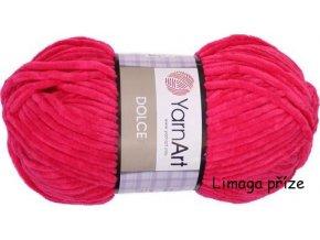 Příze Dolce 759 sytá růžová  pletací a háčkovací příze, 100% polyester
