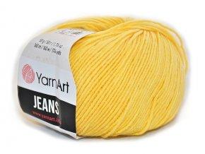 Příze Gina (Jeans) 88 světle žlutá  PLETACÍ A HÁČKOVACÍ PŘÍZE, 55% BAVLNA, 45% AKRYL