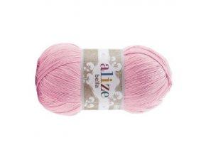 PŘÍZE BELLA 32 RŮŽOVÁ  pletací a háčkovací příze, 100% bavlna
