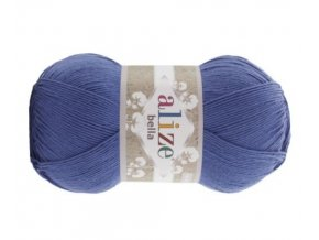 Příze Bella 333 modrá  pletací a háčkovací příze, 100% bavlna