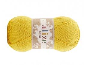 Příze Bella 488 žlutá  pletací a háčkovací příze, 100% bavlna