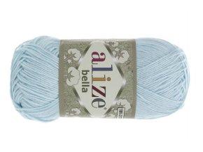 Příze Bella 514 pastelově modrá  pletací a háčkovací příze, 100% bavlna