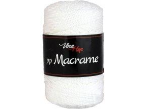 Příze pp Macrame 4002 bílá  PLETACÍ A HÁČKOVACÍ PŘÍZE, 100% POLYESTER