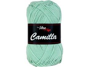 Příze Camilla 8134 zelená máta  pletací a háčkovací příze, 100% bavlna