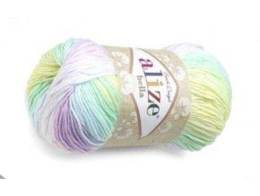 Příze Bella batik 2132  pletací a háčkovací příze, 100% bavlna