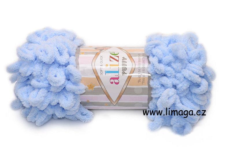 Příze Puffy 183 blankytně modrá