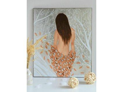 Obraz malovaný na dřevěné desce