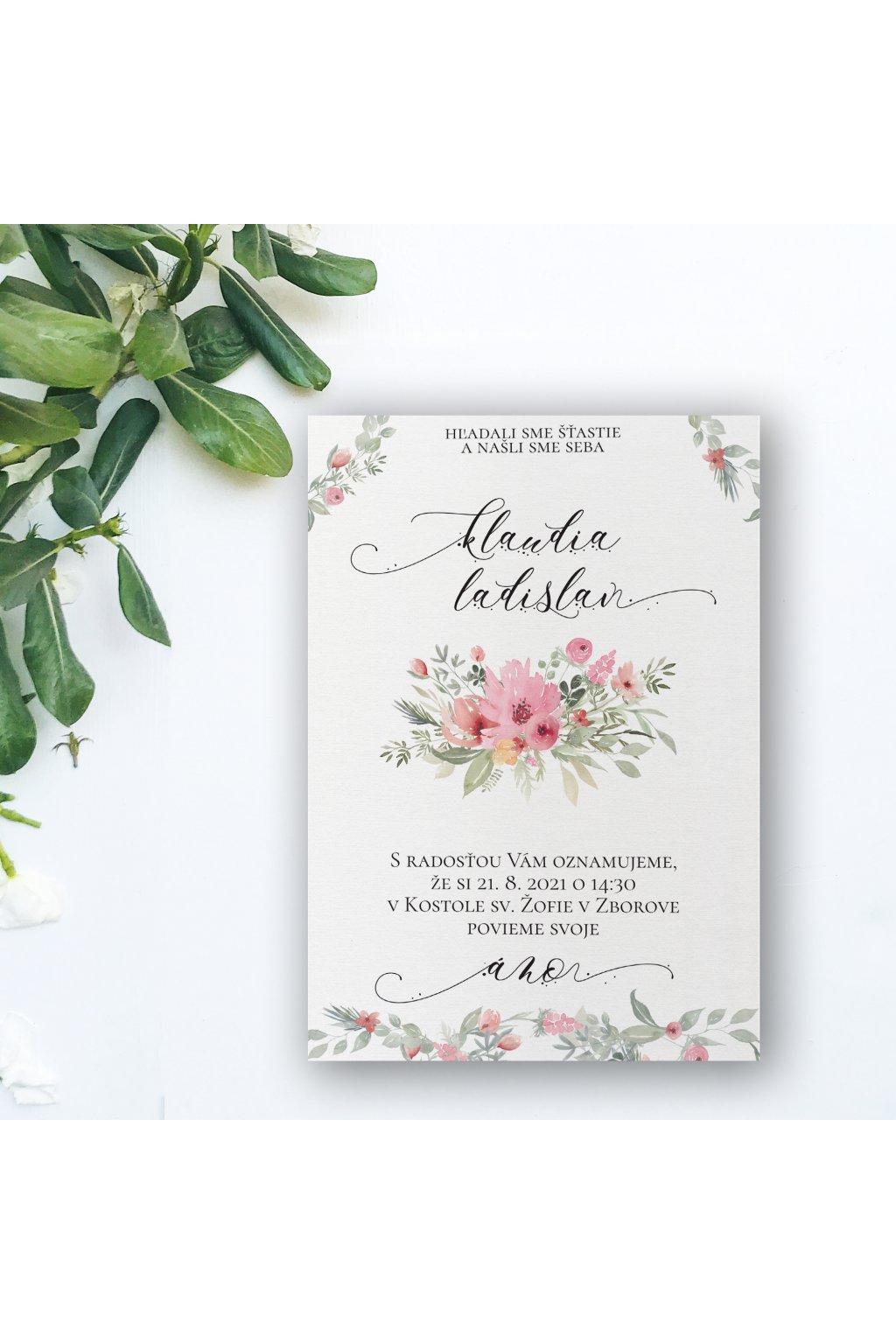 Jarné svadobné oznámenie