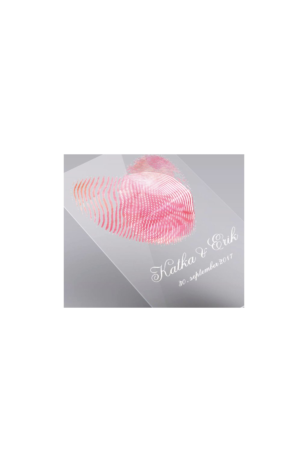promo srdce z odtlačkov prstov