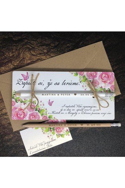 Zapíšte si, že sa berieme – ruže