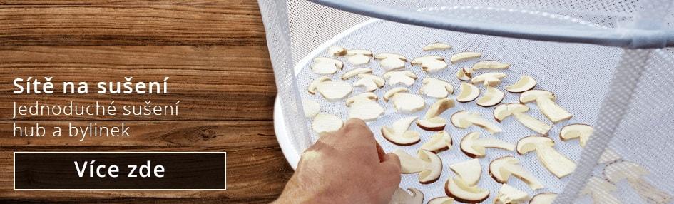 Sítě a síta na sušení hub a bylinek