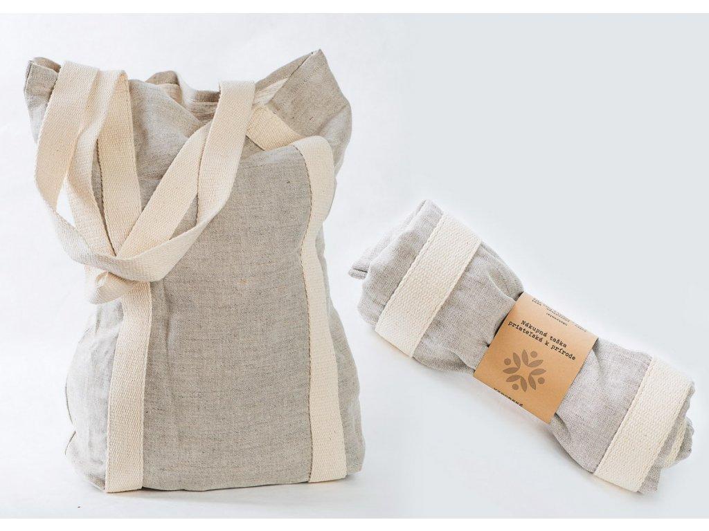 Lněná nákupní taška - přátelská k přírodě