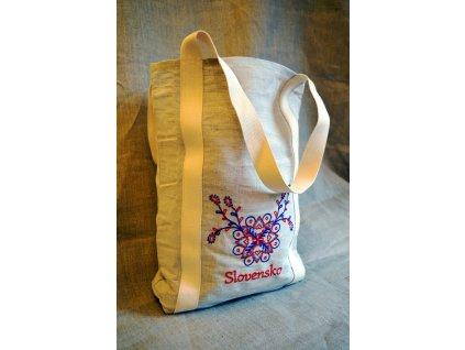 Lněná nákupní taška - přátelská k přírodě, Slovensko