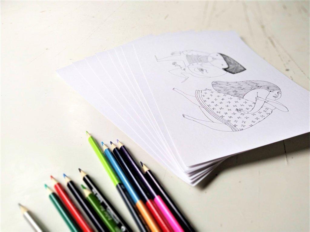 8 autorských kreseb k vytištění