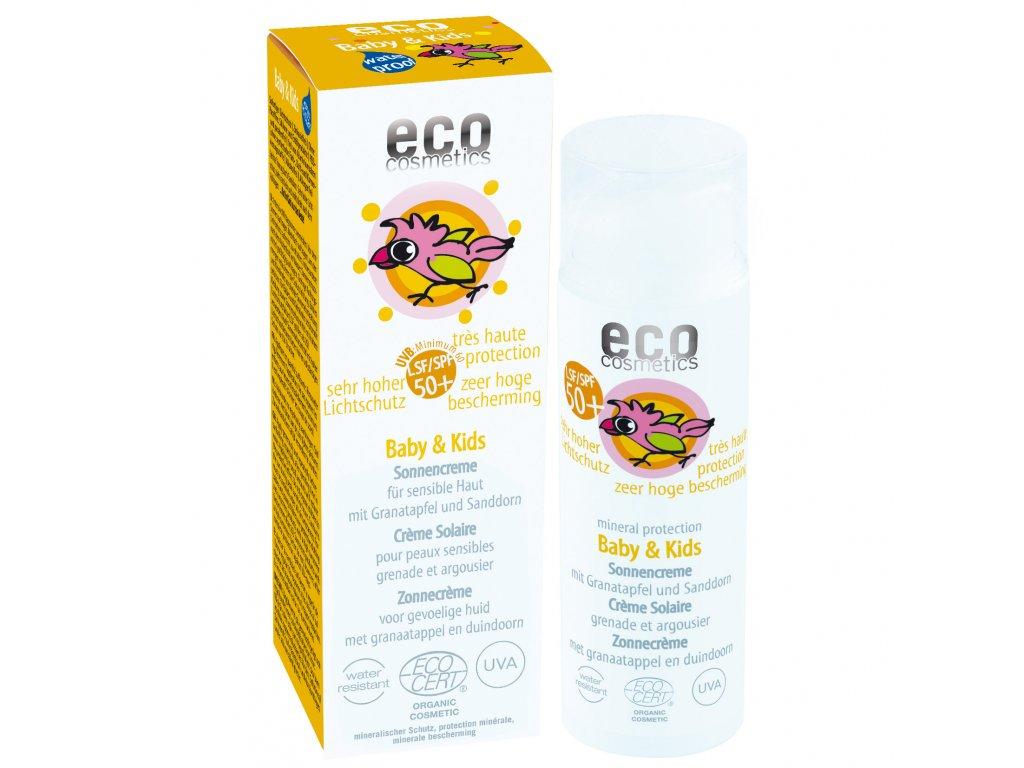 Eco cosmetics detsky opalovaci krem spf50+