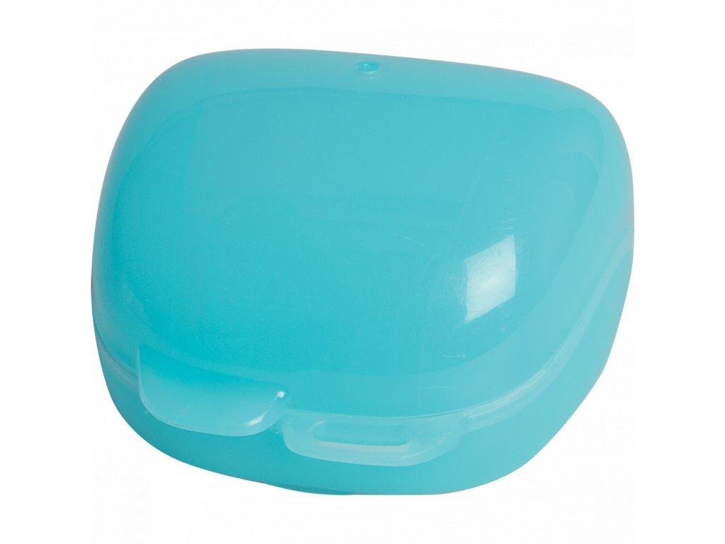 3273816350745 Krabička na dudlík (sterilizovatelná) modrá