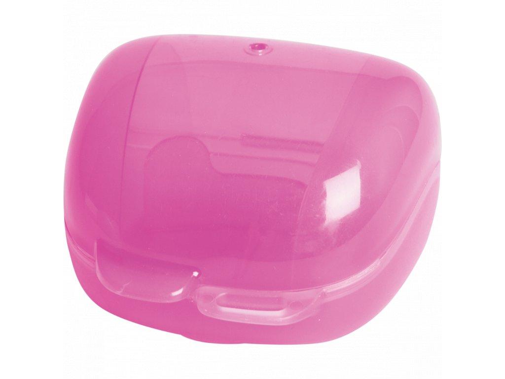3273816350752 Krabička na dudlík (sterilizovatelná) růžová