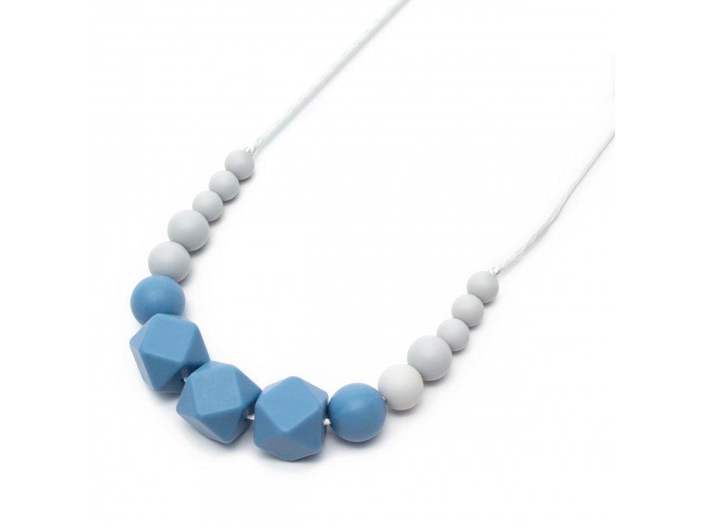 Silikonové kojicí korále Mimijo Wendy modrá