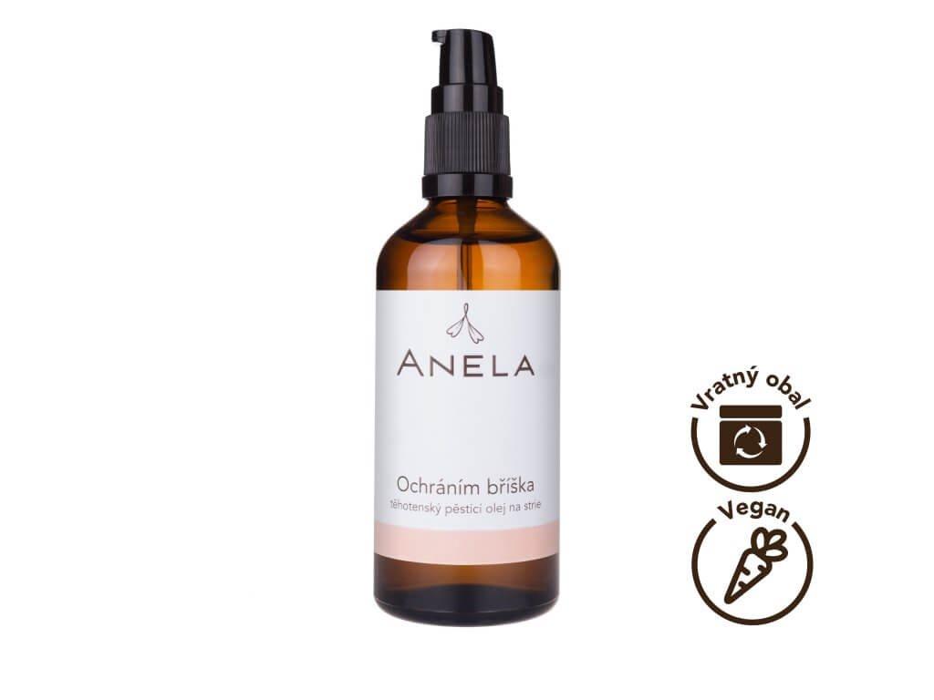 Anela Ochráním bříška - těhotenský pěsticí olej na strie 100 ml