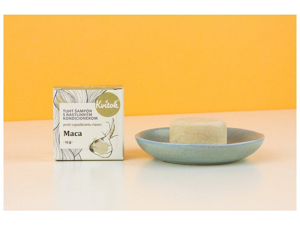 KVITOK tuhý šampon s rostlinným kondicionérem proti vypadávání vlasů MACA