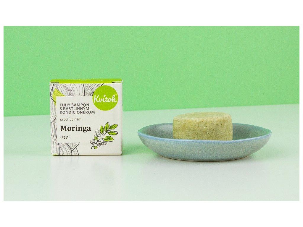 KVITOK Tuhý šampon s rostlinným kondicionérem proti lupům Moringa