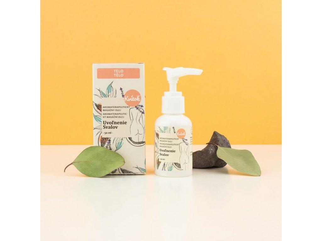 KVITOK Uvolnění svalů Aromaterapeutický masážní olej