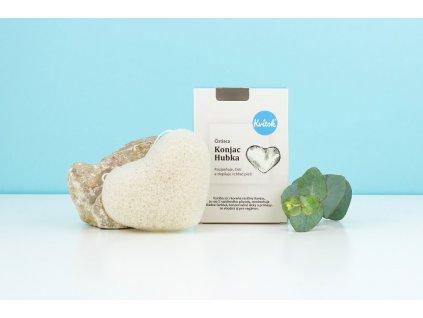 KVITOK Čisticí houbka ve tvaru srdce