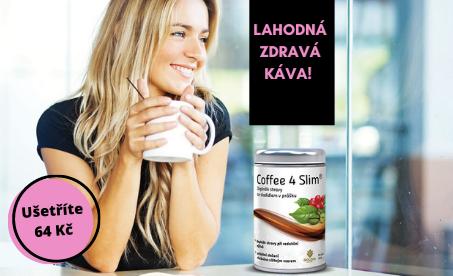 Coffee 4 Slim - lahodná káva, optimum pro hubnutí za akční cenu!