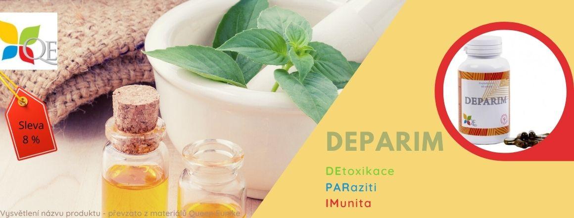 DEPARIM, dostal název ze zkratek slov: DEtoxikace, PARaziti, IMunita