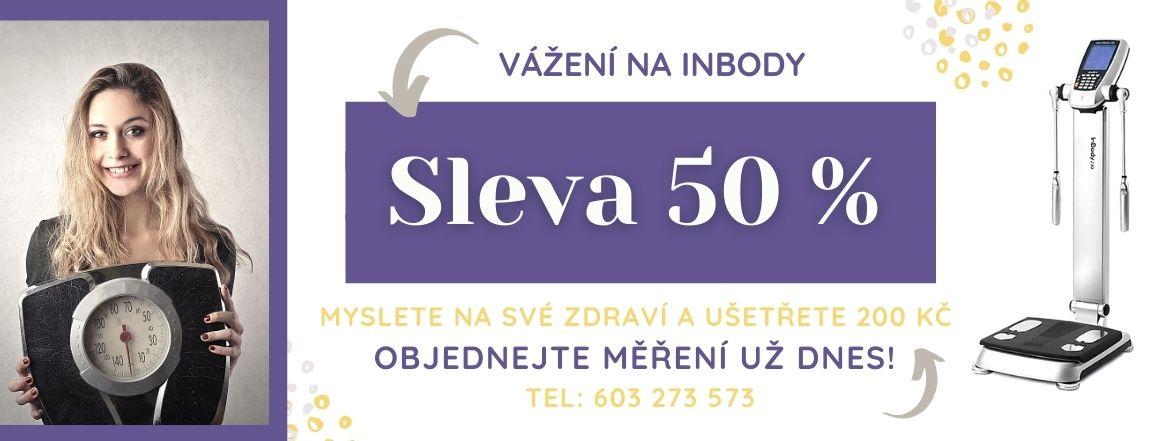 Vážení na InBody včetně měření tuku nyní se slevou 200 Kč. Prozkoumejte nabídku!