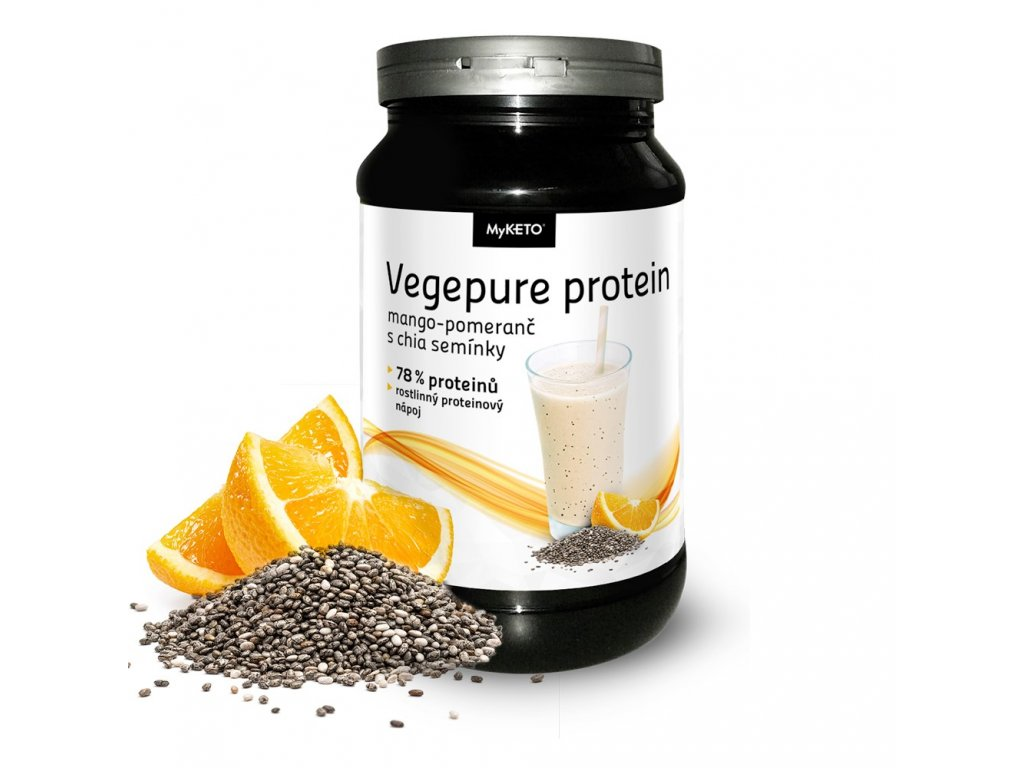 myketo vegepure protein gym and body mango pomeranč chia vegan