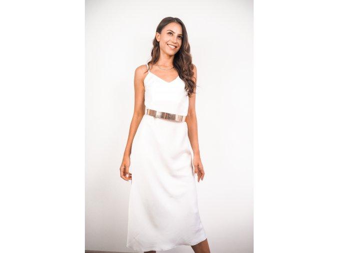 Saténové slip dress midi šaty - Gina