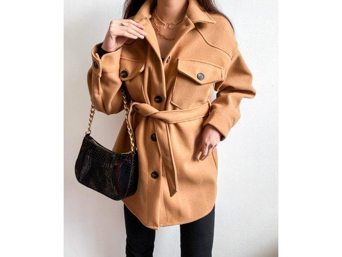 Flaušový jarní kabátek - Helena