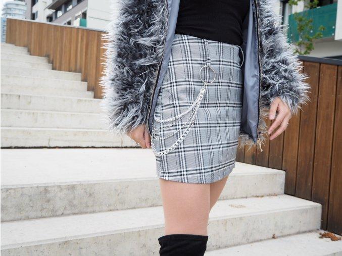 Karo sukně s řetízkem - Jenny