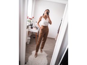 Elegantní culottes kalhoty s páskem - Paris 2