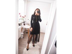 Luxusní pletené šaty s tylem - Luxe 2