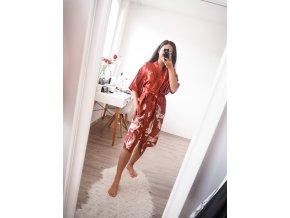 Saténový set - noční košilka + kimono